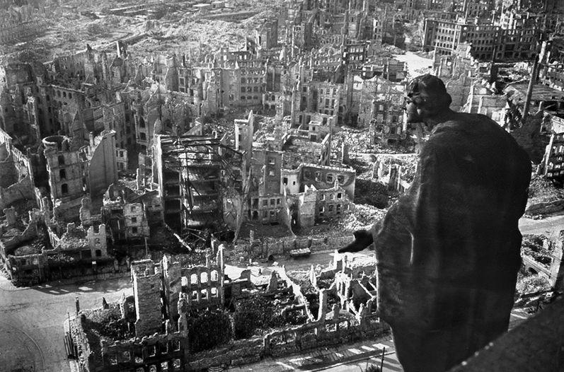 La ciudad de Dresde, después del ataque.