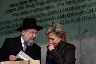 Hillary Clinton con judío.