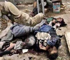 Niños asesinados en Irak.
