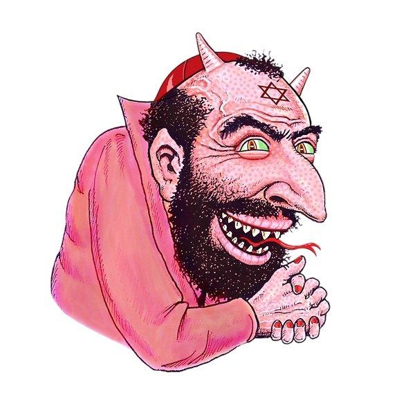 Judío traidor con cuernos.