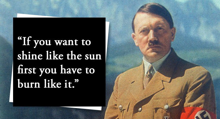 Hitler quote.
