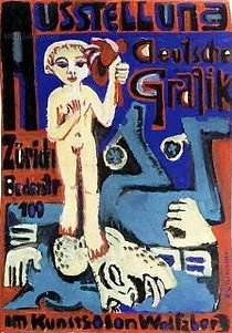 "Some degenerate piece of ""art"" painted by the justly called degenerate artist Ludwig Kirchner. If you are blind you are spared of seeing his ""creations"""