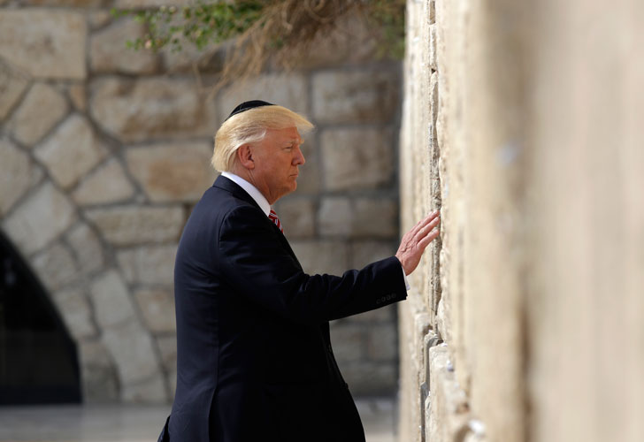 Donald Trump on the jewish wall