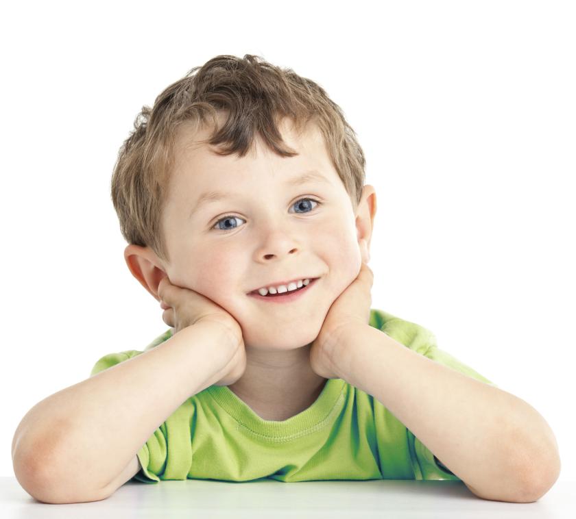A happy looking kid.