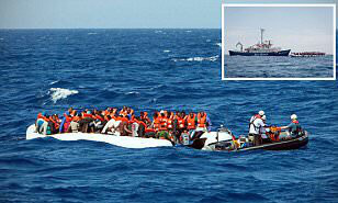 Smuggled migrants, aided by the friendly charities. Friendly traitorous charities.