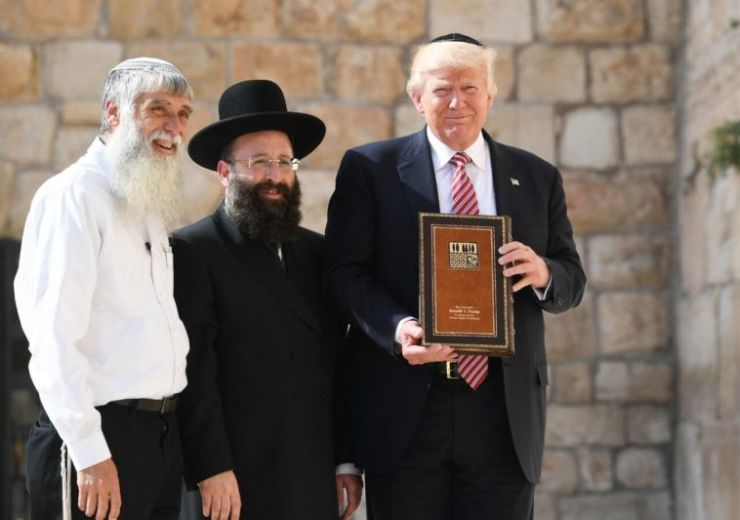 Trump being officially certified as a Kosher Buttboy Amerikan Buffoon by the Satanic Chabad Lubavitcher psychopaths! And the ziopig is proud of his servitude & treason for Israel against the American people!