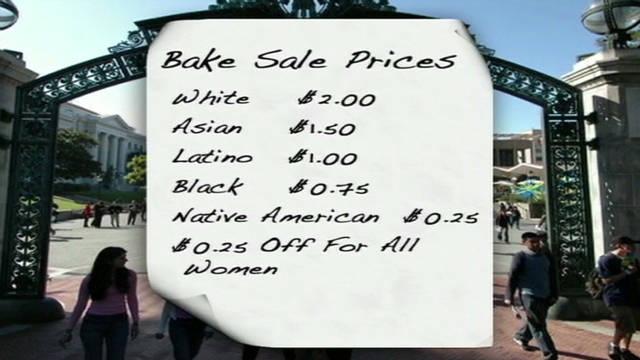 Image result for affirmative action university bake sale anti-white